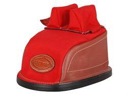 Edgewood Original Rear Shooting Rest Bag Tall with Regular Ears and Wide Stitch Width Leather and Nylon Red Unfilled