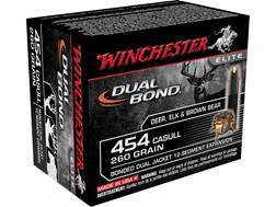 Winchester Dual Bond Ammunition 454 Casull 260 Grain Jacketed Hollow Point Case of 200 (10 Boxes of 20)