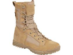 """5.11 Skyweight 8"""" Uninsulated Tactical Boots Leather and Nylon Coyote Men's"""