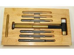 Lyman Tapper Hammer with Interchangeable Brass, Nylon, Steel Heads and Punch Set 7-Piece