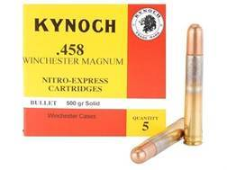 Kynoch Ammunition 458 Winchester Magnum 500 Grain Woodleigh Weldcore Solid Box of 5