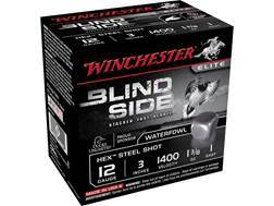 "Winchester Blind Side Ammunition 12 Gauge 3"" 1-3/8 oz #1 Non-Toxic Steel Shot Box of 25"