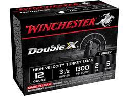 "Winchester Double X Turkey Ammunition 12 Gauge 3-1/2"" 2 oz #5 Copper Plated Shot Box of 10"