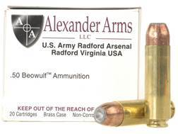 Alexander Arms Ammunition 50 Beowulf 325 Grain Speer Jacketed Hollow Point Box of 20