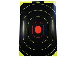 "E-ZEE-C Self-Adhesive 10"" x 15'"" Black/Yellow Silhouette Target Package of 25"