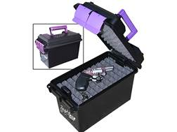 "MTM Handgun Concealed-Carry Pistol Case 13.5"" Black/Purple"