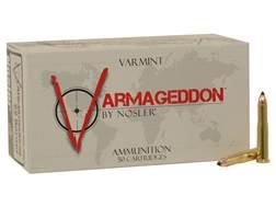 Nosler Varmageddon Ammunition 22 Hornet 35 Grain Tipped Flat Base Box of 50