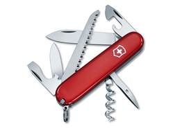 Victorinox Swiss Army Camper Folding Pocket Knife 8 Function Stainless Steel Blade Polymer Handle Red