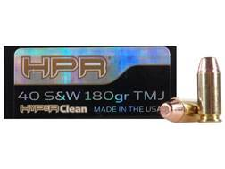 HPR HyperClean Ammunition 40 S&W 180 Grain Total Metal Jacket Box of 50