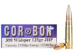 Cor-Bon Self-Defense Ammunition 300 Whisper 125 Grain Jacketed Hollow Point Box of 20
