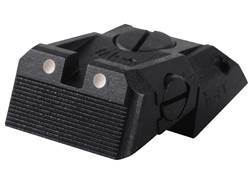 Kensight Adjustable Defensive Rear Sight 1911 Novak LoMount Cut Steel Black Serrated Blade with W...