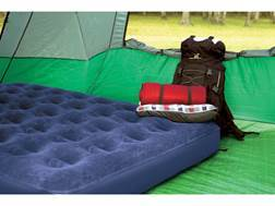 Texsport Deluxe Twin Air Bed with Built-In Air Pump PVC and Velour Navy Blue