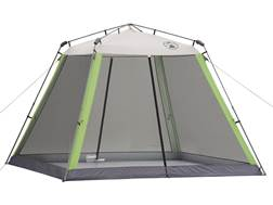 "Coleman Screened Canopy 120""x120"" Polyester White and Green"