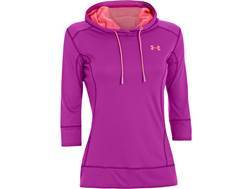 Under Armour Women's UA ArmourGuard Hooded Sweatshirt Polyester Strobe Small (4-6)