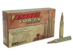 Barnes VOR-TX Ammunition 300 Weatherby Magnum 180 Grain Tipped Triple-Shock X Bullet Boat Tail Lead-Free Box of 20