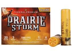 "Federal Premium Prairie Storm Ammunition 20 Gauge 3"" 1-1/4 oz #6 Plated Shot Box of 25"