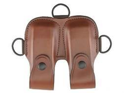 Bianchi X16A Magazine Pouch 1911, Beretta 84, HK P7-M8, Ruger P90, Sig Sauer P220, P225 Leather Tan
