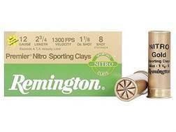 "Remington Premier Nitro Gold Sporting Clays Target Ammunition 12 Gauge 2-3/4"" 1-1/8 oz #8 Shot High Velocity"