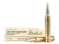 Weatherby Ammunition 300 Weatherby Magnum 165 Grain Nosler Ballistic Tip 20