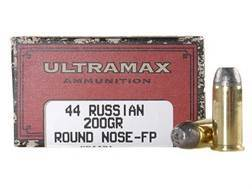 Ultramax Cowboy Action Ammunition 44 Russian 200 Grain Lead Flat Nose Box of 50