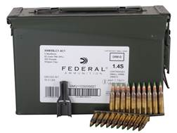 Federal Ammunition 5.56x45mm NATO 62 Grain XM855 SS109 Penetrator Full Metal Jacket 10 Round Clip...