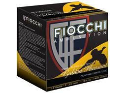"Fiocchi Golden Pheasant Ammunition 12 Gauge 2-3/4"" 1-3/8 oz #5 Nickel Plated Shot Box of 25"