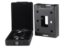 "Bulldog Car Vault Security Box with Mounting Bracket 7"" x 5.25"" x 2"" Steel Black"