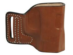 DeSantis L-GAT Outside the Waistband Slide Holster Right Hand Glock 17, 19, 22, 23, 26, 27, 33, 34, 35 Leather Tan