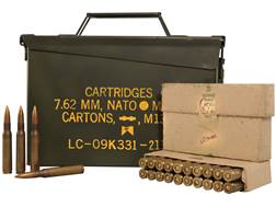 Military Surplus Ammunition 30-06 Springfield 150 Grain Full Metal Jacket Berdan Primed Ammo Can ...