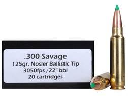 Doubletap Ammunition 300 Savage 125 Grain Nosler Ballistic Tip Hunting Spitzer Box of 20