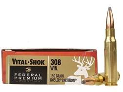 Federal Premium Vital-Shok Ammunition 308 Winchester 150 Grain Nosler Partition Box of 20