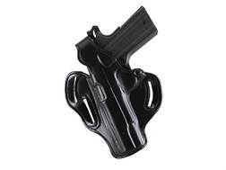 DeSantis Thumb Break Scabbard Belt Holster Left Hand Sig Sauer P229 Suede Lined Leather Black