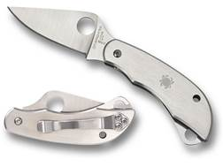 """Spyderco ClipiTool with Scissors Folding Pocket Knife 2"""" Drop Point 8Cr13MoV Blade Stainless Stee..."""