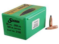 Sierra GameKing Bullets 30 Caliber (308 Diameter) 180 Grain Spitzer Boat Tail Box of 100