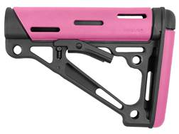 Hogue OverMolded Collapsible Stock Commercial Diameter AR-15, LR-308 Pink