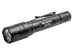 Surefire EB2 Backup Flashlight LED with 2 CR123A Batteries Click Switch Aluminum Black