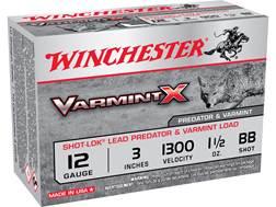 "Winchester Varmint-X Ammunition 12 Gauge 3"" 1-1/2 oz BB Box of 10"