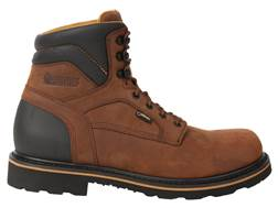 "Rocky Governor 6"" Waterproof Uninsulated Composite Safety Toe Work Boots Leather Brown Men's"