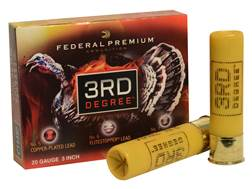 "Federal Premium 3rd Degree Turkey Ammunition 20 Gauge 3"" 1-7/16 oz #5, #6, and #7 Multi Shot Fliteco"