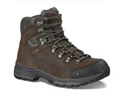 "Vasque St. Elias 5"" GTX Waterproof Hiking Boots Leather Slate Brown and Beluga Men's"