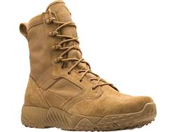 "Under Armour UA Jungle Rat 8"" Uninsulated Tactical Boots Leather and Nylon Coyote Brown Men's"