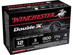 "Winchester Double X Turkey Ammunition 12 Gauge 3"" 1-3/4 oz #4 Copper Plated Shot Box of 10"