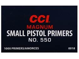 CCI Small Pistol Magnum Primers #550 Case of 5000 (5 Boxes of 1000)