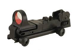C-More Tactical Reflex Sight 8 MOA Red Dot with Adjustable Rear Sight AR-15 Flat-Top Mount Polymer Matte