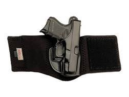 "Galco Ankle Glove Holster Right Hand Springfield XD Sub-Compact 3"" Leather with Neoprene Leg Band Black"