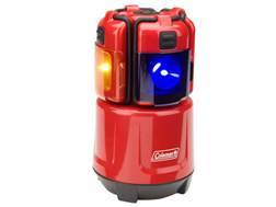Coleman Micro Quad Mini Lantern LED with 4 AA Batteries Polymer Red