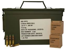 Federal Lake City Ammunition 5.56x45mm NATO 62 Grain XM855 SS109 Penetrator Full Metal Jacket Amm...