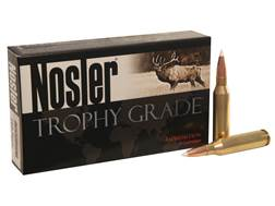 Nosler Trophy Grade Ammunition 260 Remington 130 Grain AccuBond Box of 20