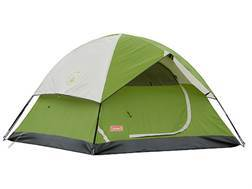 "Coleman Sundome 3 Man Dome Tent 84"" x 84"" x 52"" Polyester Green, White and Gray"