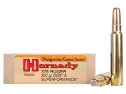 Hornady Dangerous Game SUPERFORMANCE Ammunition 375 Ruger 300 Grain Round Nose Expanding Box of 20